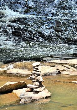Rock Altar On Sope Creek by James Potts