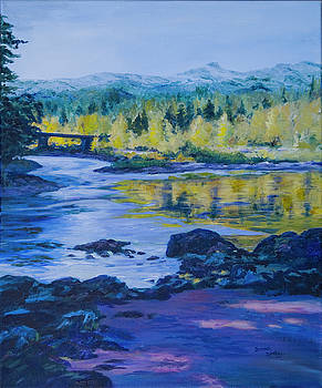Rock Creek Fishing Hole by Donna Drake