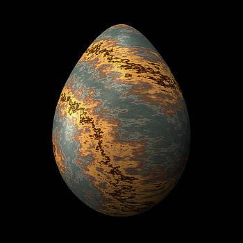 Hakon Soreide - Rock Egg with Warm Yellow Lines