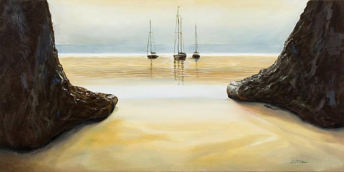 Rock Feet Beach by Loretta McNair