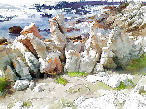 Rock Formation Bettys Bay by Jan Hattingh