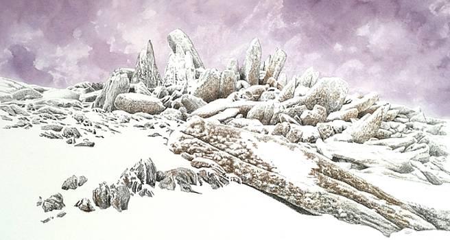 Rock formation on Glyder Fach by Alwyn Dempster Jones