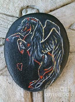 Rock 'N' Ponies BLACK PEARL PEGASUS by Louise Green