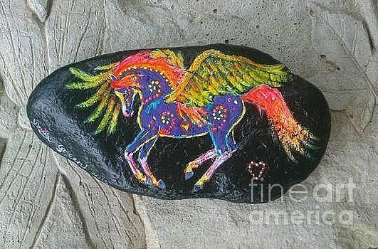 Rock 'N' Ponies - Little Sun Spirit Pony  by Louise Green
