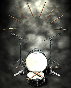 Rock N Roll crest-The drummer by Frederico Borges
