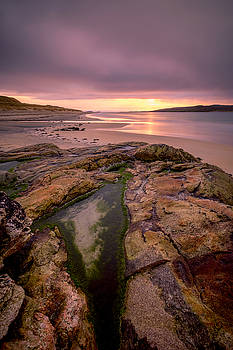 Rock pools, Luskentyre, Harris by Neil Alexander