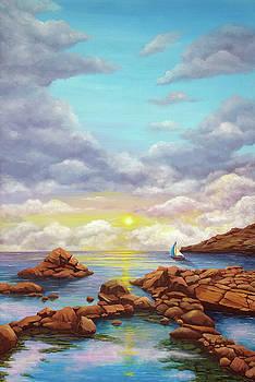 Rock Pools, seascape by Debra Dickson