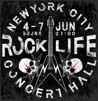 Rock Poster  by Tolga Ozcelik