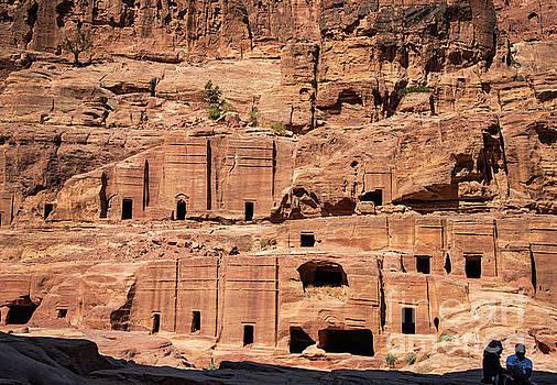 Rock Village in Petra by Mae Wertz