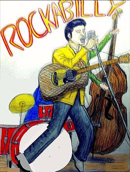 Larry E Lamb - Rockabilly illustration