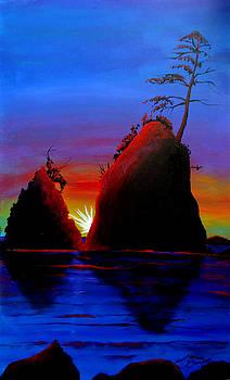 Rockaway Beach AT Sunset 4 by Portland Art Creations