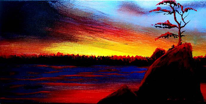 Rockaway Beach At Sunset #5 by Portland Art Creations