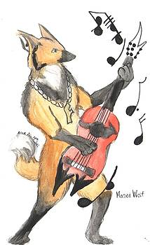 Rocker Fox  by  AmaSepia Gittens-Jones' Fox And Fantasy Designs