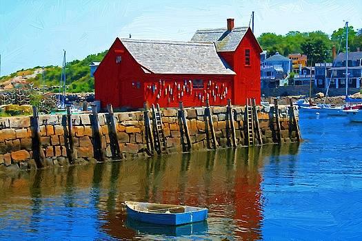 Rockport Harbor Icon by John Ellis
