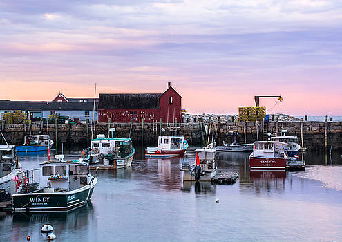 Rockport Waterfront with Motif no 1 by Nancy De Flon