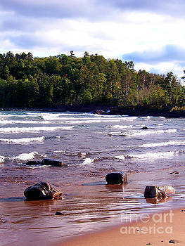 Rocks Along The Shore by Phil Perkins