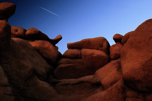 Rocks and Sky at Goblin Valley  Utah by Gary Warnimont