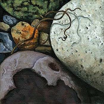 Rocks and Twig  by Linda Apple