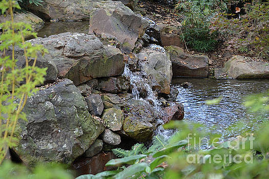 Rocks and Waterfall 2 by Ruth Housley