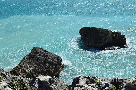 Rocks in the St. Thomas Sea by Angeline Jackson
