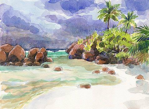 Judith Kunzle - Rocks of Motu Rakau, Aitutaki