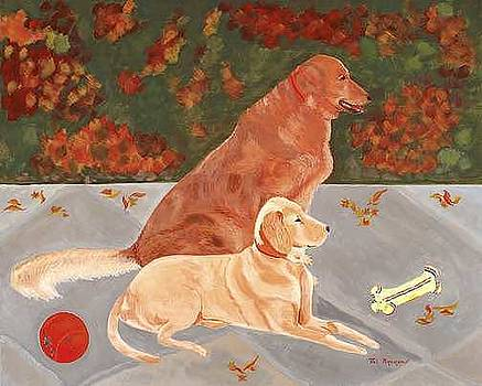 Rocky and Rambo Golden Retrievers by Thi Nguyen