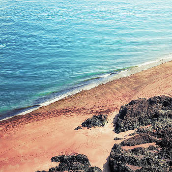 Rocky Beach Aerial by Dirk Wuestenhagen