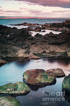 Rocky beach in Arild by Sophie McAulay