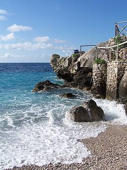 Rocky Beach on Capri by Adam Schwartz
