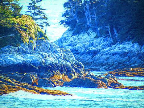 Rocky Coast - Inside Passage by Susan Lafleur