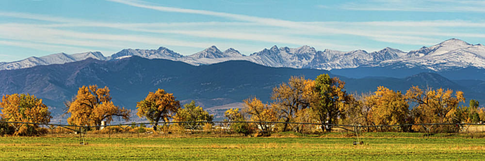 James BO Insogna - Rocky Mountain Autumn Farming Panorama