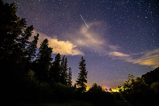 Rocky Mountain Falling Star by James BO Insogna