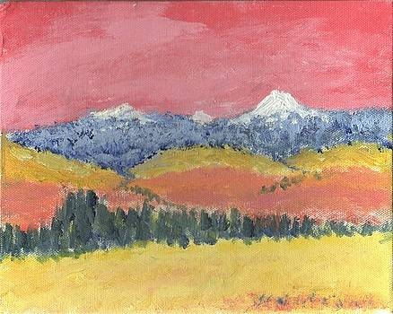 Rocky Mountain Sunset by Bernard Victor