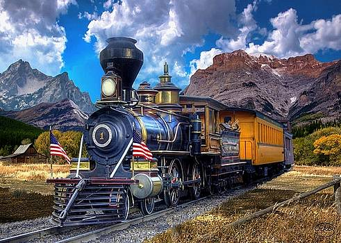 Rocky Mountain Train by Ron Chambers