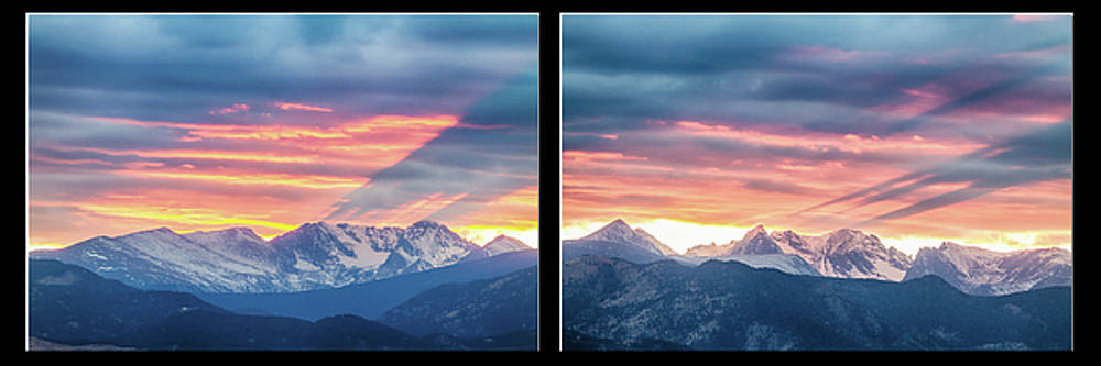 James BO Insogna - Rocky Mountains Sunset Waves Panorama Collage