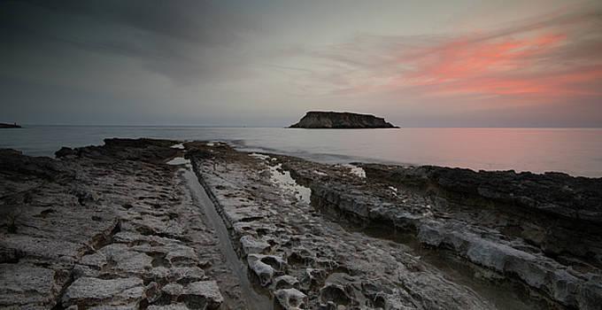 Rocky Coastline and Beautiful Sunset by MPpalis