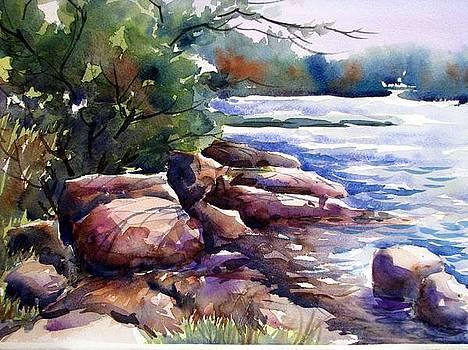 Rocky Shore by Chito Gonzaga