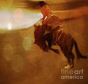 Rodeo Abstract by Al Bourassa