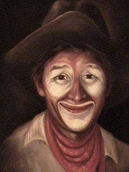 Rodeo Clown by Gordon Sage
