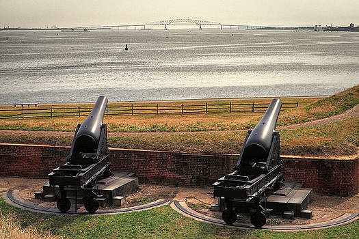 Rodman Cannons at Fort McHenry National Monument and Historic Shrine by Bill Swartwout