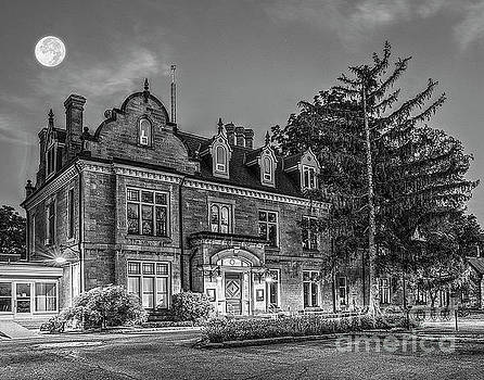Rodman Hall Under Moonlight BW by Serge Chriqui