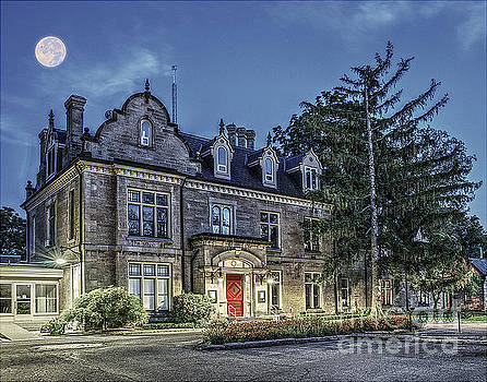 Rodman Hall Under Moonlight by Serge Chriqui