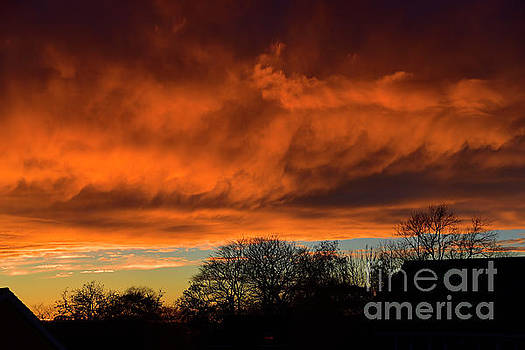 Fire in the sky that cannot harm by Brenda Kean