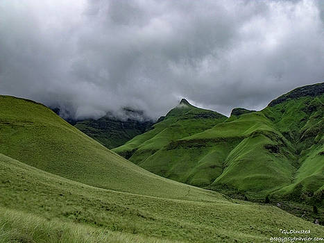 Rolling green Drakensberg Mountains by Gaelyn Olmsted