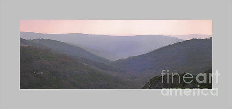 Rolling Hill Country Panorama Poster by Felipe Adan Lerma