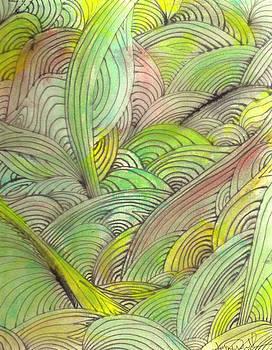 Rolling Patterns in Greens by Wayne Potrafka