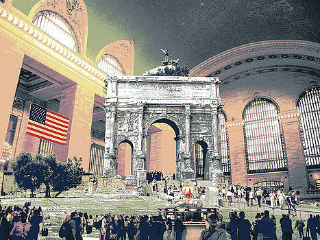 Roman Arch of Septimius Severus in Grand Central Station, New York by Shay Culligan