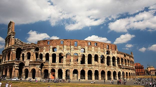 Roman Colosseum, Rome Italy by Ron Bartels