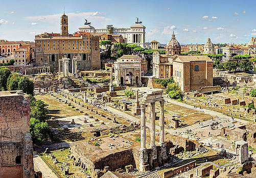 Weston Westmoreland - Roman Forum and Capitoline Hill from Palatine