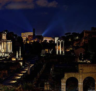 Weston Westmoreland - Roman Forum Giant Panorama 3 of 3